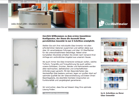 Webdesign Referenz: glastuerportal.de